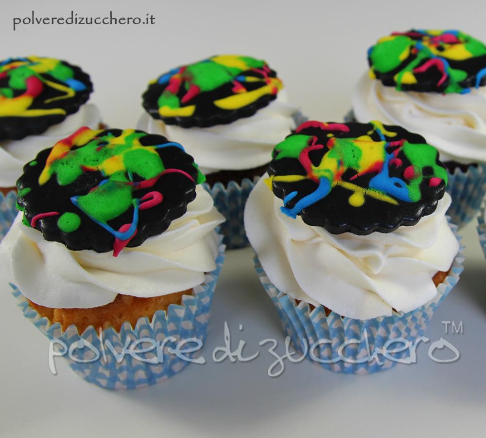Cupcake schizzi colore