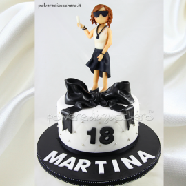 Torta Martina 18anni