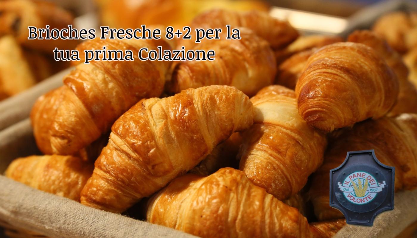 Brioches Fresche 8+2 per la tua prima Colazione